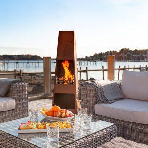 Loke corten ute 5 300x300 - Garden fireplace Loke