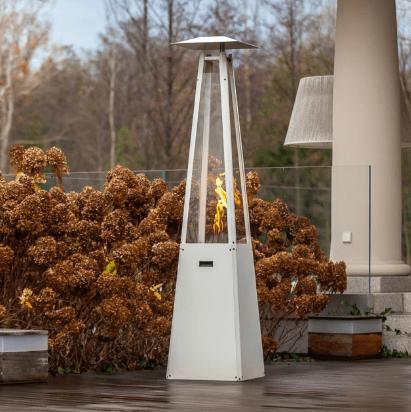 Umbrella biala szpros - Garden Gas heater UMBRELLA white