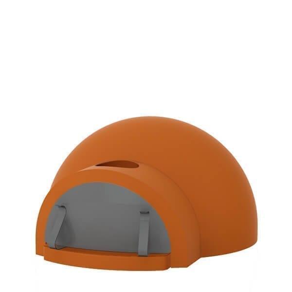 cupolino refractory modular oven - Hybrydowy piec do pizzy Alfa Forni BRIO czerwony (drewno, gaz)