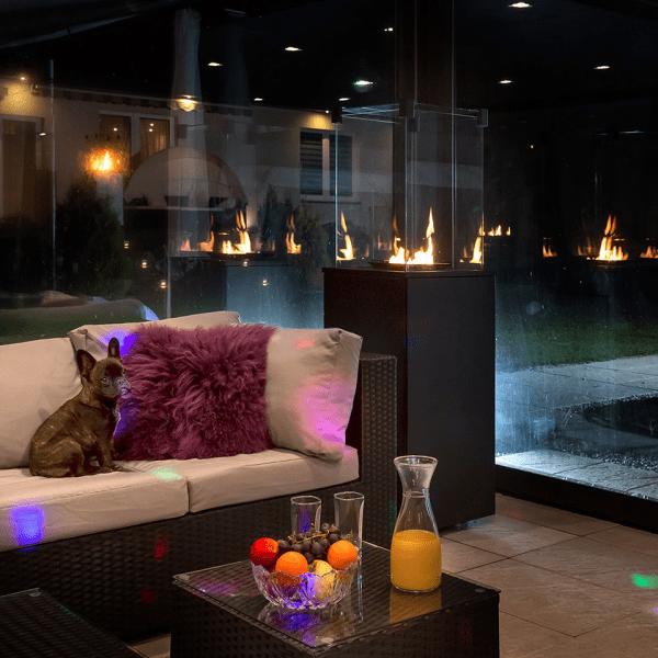 patio czarny 1 600x600 - Podgrzewacz gazowy  PATIO stalowy - sterowanie manualne + Pokrowiec