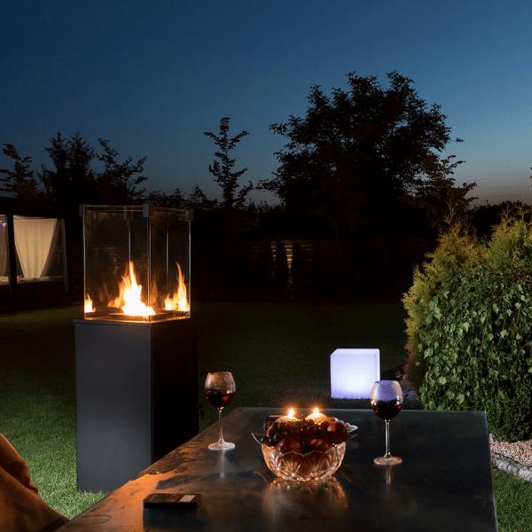 patio mini 600x600 - Podgrzewacz gazowy  PATIO Mini czarny - sterowanie manualne + Pokrowiec