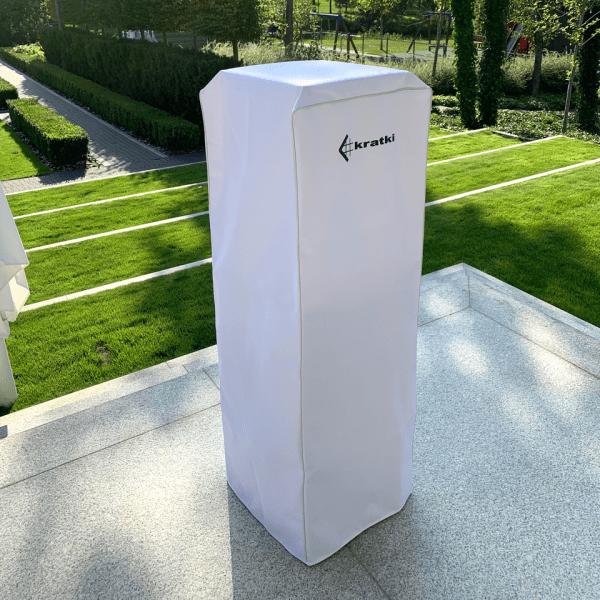 pokrowiec bialy patio 600x600 - Pokrowiec na ogrzewacz gazowy PATIO biały