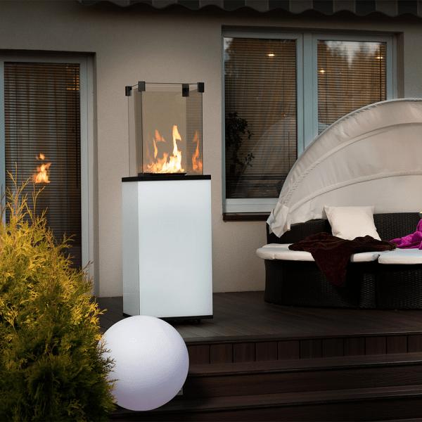 www aranz ogrzewacz gazowy patio lacobel panel bialy ogien 4 960 960 1 0 0 600x600 - Podgrzewacz gazowy  PATIO szkło/biały  - sterowanie manualne
